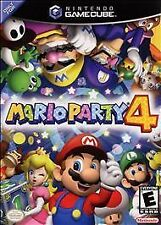 Mario Party 4 (Nintendo GameCube, 2002) BLACK LABEL, COMPLETE