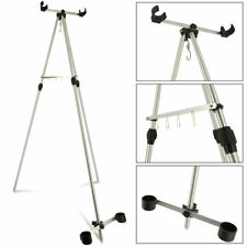 SEA FISHING TRIPOD BEACH ROD STAND FOR 2 FISHING TACKLE RODS AND REELS