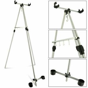 SEA FISHING TRIPOD BEACH ROD STAND FOR 2 SEA FISHING TACKLE RODS AND REELS 6ft