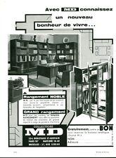 Publicité ancienne meubles de rangement MD 1959 issue de magazine