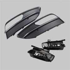 For AUDI A3 15-16 Hatchback Pair Halogen Fog Light Lamp +Foglight Grille Grill