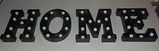 "Black Plastic 9"" Marquee H.O.M.E. Light Up Letters Sign for Home Decoration Deco"