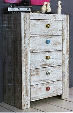 Vintage Kommode Sideboard 5 Schubladenknöpfe aus Metall & 5 aus Porzellan / NEU!