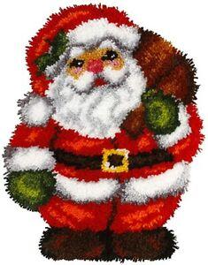 "Latch hook rug CHRISTMAS making  kit  ""SANTA "" by Orchidea UK SELLER"