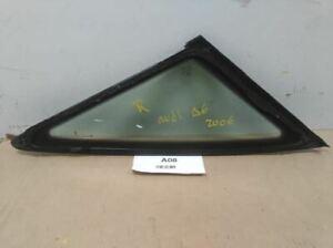 2005 2011 AUDI A6 3.2 QUATTRO REAR RIGHT PASSENGER SDIE QUARTER GLASS WINDOW OEM