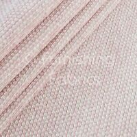 Textured Plain Weave Soft Furnishings Upholstery Curtains Sofas Fabric Soft Pink