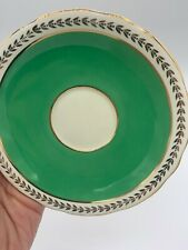Vintage Aynsley Green Gold Saucer Bone China Made In England