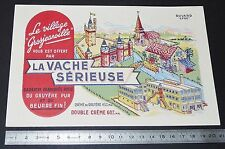 BUVARD 1950 FROMAGE LA VACHE SERIEUSE GROSJEAN CREME GRUYERE JURA VILLAGE