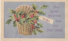 """""""All Good Wishes for the New Year""""  Post Card"""
