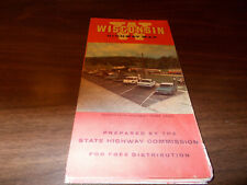 1964 Wisconsin State-issued Vintage Road Map