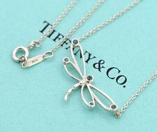 TIFFANY&Co Dragonfly Necklace Silver 925 with Aquamarine w/BOX v946