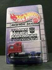 "Custom HotWheels SEMI and package of  ""Optimus Prime""  from TRANSFORMERS"