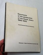 1969, Documents of the Persecution of the Dutch Jewry 1940-1945, Sb 1st