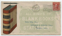 1905 allover Baker Printing Co. Newark NJ ad cover blank books [y4249]
