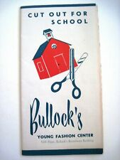 "Scarce Wonderful Vintage Advertising Paper Doll Brochure ""Bullock's"" - Uncut *"