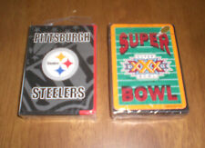 2 PITTSBURGH STEELERS DECKS PLAYING CARDS - SEALED - SUPER BOWL XXX