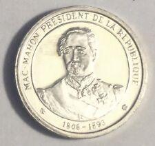 Médaille Histoire De France En Argent Président Mac Mahon 1906