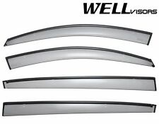 WellVisors Side Window Visors Deflectors W/ Black Trim For 11-UP KIA Sportage