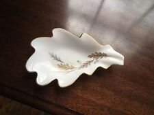 "Noritake Fine China  6.50"" Oak Leaf Candy/Nut Dish Wheat Pattern Gold Leaf Rim"