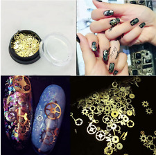 Fashion Lots 3D Nail Art Sticker Tip Decoration Geal Alloy Jewelry Glitter Wheel