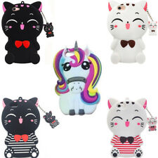 For Nokia 3 5 6 8 3D Cartoon Unicorn Lucky Cat Soft Silicone Phone Case Cover