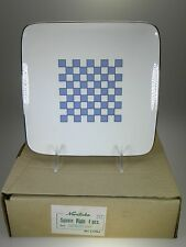 Noritake Aegean Sky Square Plates Set of 4 NEW IN BOX