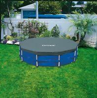 INTEX Steel Framed Pool COVER 10ft ROUND SWIMMING POOL PADDLING DEBRIS