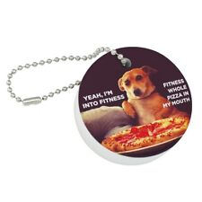 I'm Into Fitness Pizza in my Mouth Floating Keychain Round