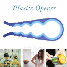 Plastic Bottle Opener Easy Grip Jar Opener with Extra Leverage(Blue)