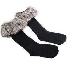 New Women's Boots Fleece Socks Liners Faux Fur Socks Leg Stocking Fur Cuff WS