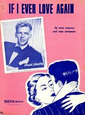 IF I EVER LOVE AGAIN Music Sheet-1949-FRANK SINATRA-Nick Romantic Couple