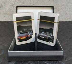 Vintage 1982 PORSCHE 944 / 911 Sports Car Motor Advertising Playing cards Sealed