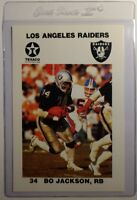Rare! 1988 Texaco Los Angeles Raiders Police #9 Bo Jackson Rookie Football RC