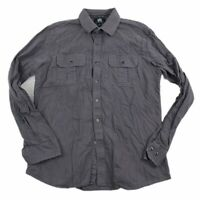 Rock & Republic Men's Long Sleeve Button Down Shirt Gray Sz Medium EUC Stretch