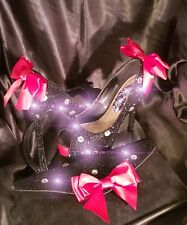 Fully Crystallised Peep Toe Heels And Matching Clutch Bag Size 6