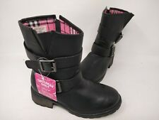 NEW! Skechers Youth Girl's Haute Heels Buckle Beauties Boots Blk #87848L 161M cc