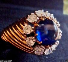 Authentic Van Cleef & Arpels 5 Ct. Cabochon Cut Sapphire & 1.5 Ct. Diamond Ring!