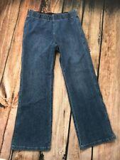 SOFT SURROUNDINGS Pull On Jeans Denim Elastic Waist Stretch Womens Large