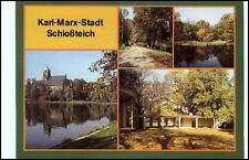 KARL-MARX-STADT Chemnitz Mehrbild-AK DDR ungelaufen Partien am Schlossteich