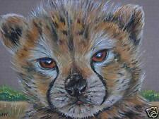 Cheetah Cub cat Wild animal print of painting