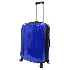 "Traveler's Choice 25"" Blue Sedona Pure Polycarbonate Lightweight Spinner Luggage"