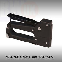 HIGH QUALITY STAPLE GUN + 50 STAPLES UPHOLSTERY TACKER DIY FABRIC STAPLER -S50
