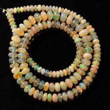 "Fine Ethiopian Welo Opal Smooth Rondelle Beads 16"" Strand"