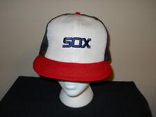 Vtg Chicago White Sox Annco Official MLB 1980s snapback hat-(sku#2)