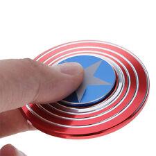 Cool Captain America Vrille Fidget Hand Spinner Ceramic Bearing High Speed EDC