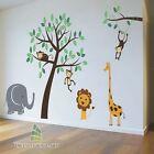 Nursery Wall Stickers Animal Friends Jungle Safari Tree Kids wall Art Decal-P267