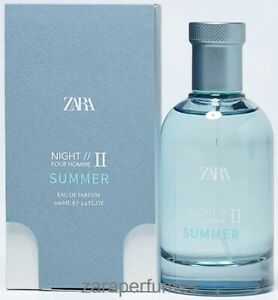 ZARA MAN NIGHT POUR HOMME II SUMMER MEN'S EAU DE PARFUM EDP PERFUME 100ml 3.4oz