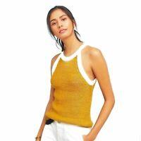 Anthropologie Moth Colourblock Knit Tank Top Women's Size XS Halter-style neck