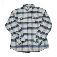 Factory Effex Licensed Yamaha Flannel Shirt Mens Blue/Gray All Sizes