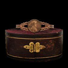 Vintage 50s 60s Copper Thunderbird Coin Medallion Bracelet  VLV Rockabilly Mod Pin Up Girl  Retro Southwestern Native American Jewelry